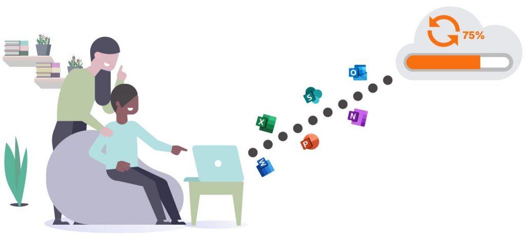 I 2020 har vi flyttet vores lokale Exchange-miljø til Microsoft 365, så alle medarbejdere i den nordiske del af team.blue får fuldt udbytte af Microsoft 365 og de muligheder, der følger med.