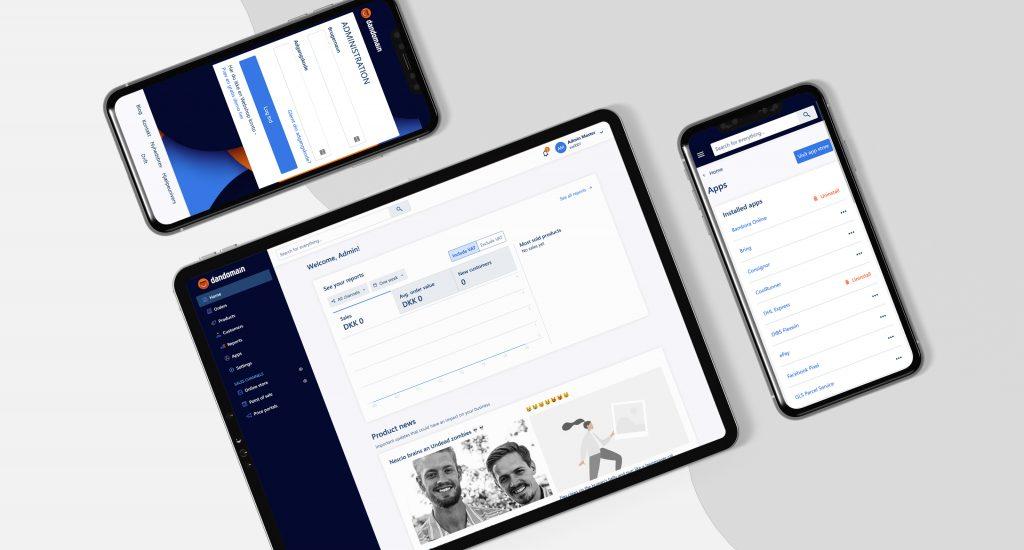 Kækkert og responsivt administrationspanel til vores webshop - med nyt interface, dashboards og meget andet lækkert til e-købmanden.